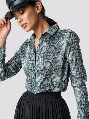 NA-KD Snake Print Tunic Shirt multicolor