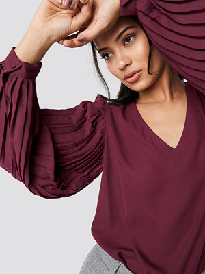 Trendyol Pleated Detailed Blouse lila