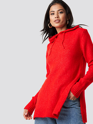 Trendyol Hooded Slit Knitted Sweater
