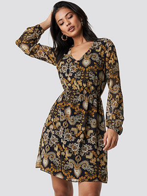 Trendyol Patterned Mini Dress - Miniklänningar