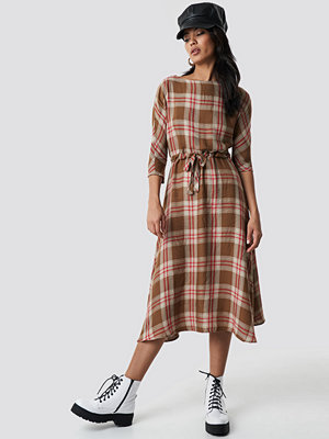 Mango Camila Midi Dress beige /