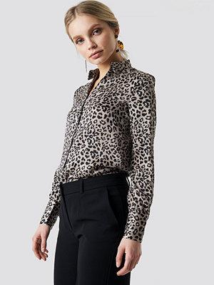Skjortor - Mango Fast Shirt brun