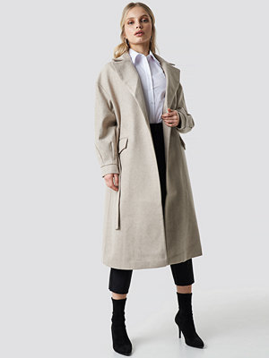 Trendyol Belt Eye Detailed Long Coat beige