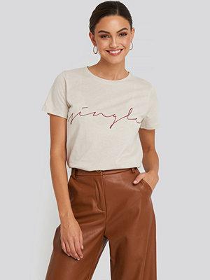 T-shirts - NA-KD Trend Single Basic Tee beige