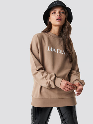 NA-KD Lovely Sweatshirt brun