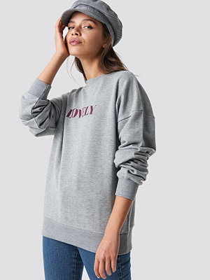 NA-KD Lovely Sweatshirt grå