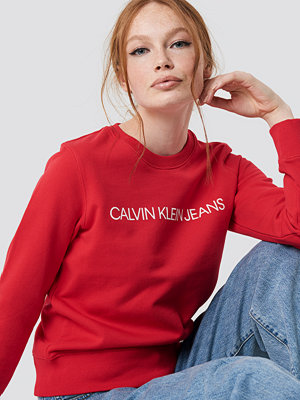 Calvin Klein Institutional Regular Crewneck röd