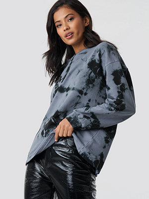 NA-KD Abstract Print Sweatshirt grå multicolor