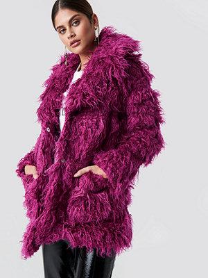 Glamorous Faux Fur Jacket lila