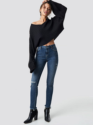 NA-KD Low Waist Skinny Jeans blå