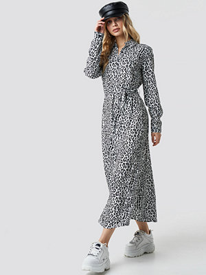 NA-KD Leopard Printed Shirt Dress multicolor