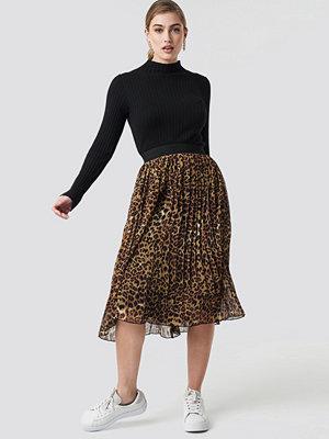 NA-KD Pleated Midi Skirt multicolor