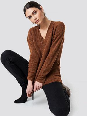 Trendyol V-Neck Knitted Pullover brun