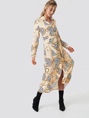 NA-KD Leopard Chain Shirt Dress - Midiklänningar