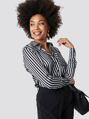 NA-KD Satin Stripe Shirt
