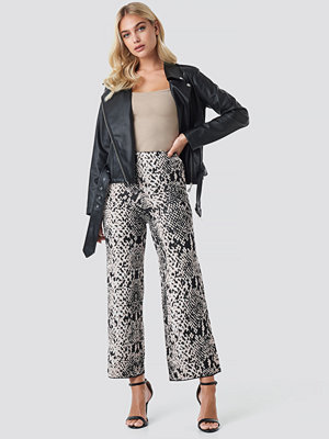 Trendyol mönstrade byxor Snake Patterned Pant grå multicolor