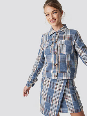 Camille Botten x NA-KD Checked Short Jacket - Jackor