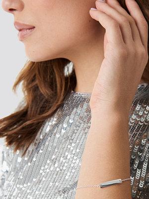 Linn Ahlborg x NA-KD smycke Clean Bar Bracelet silver
