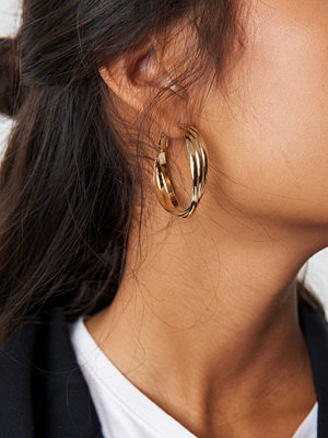 NA-KD Accessories Layered Hoop Earrings - Smycken