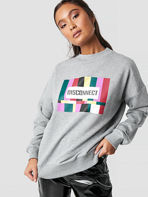 NA-KD Disconnect Sweatshirt grå