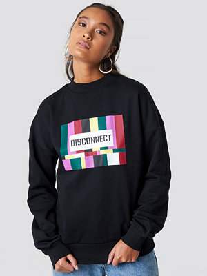 NA-KD Disconnect Sweatshirt svart