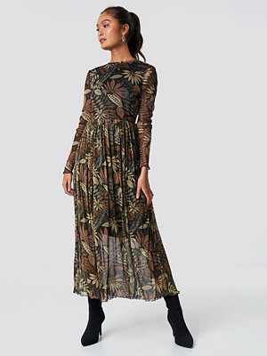 Moves Marisan Dress brun grön