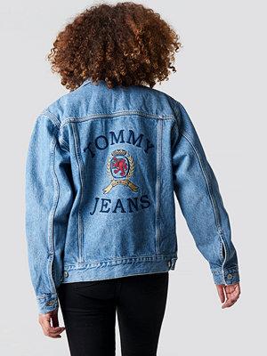 Tommy Jeans Crest Flag Trucker Denim Jacket - Jeansjackor