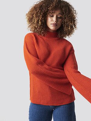 Rut & Circle Wide Sleeve Pullover röd