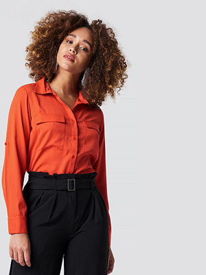 Rut & Circle Double Pocket Shirt röd