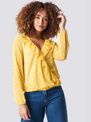 Rut & Circle Frill Wrap Blouse gul