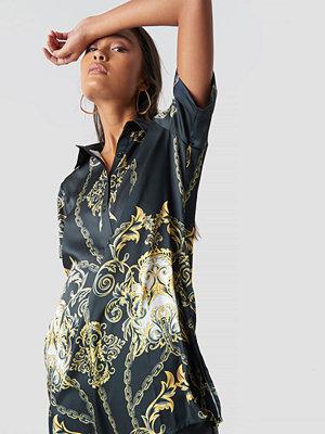 NA-KD Chain Print Shirt - Skjortor