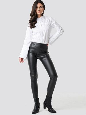 Leggings & tights - NA-KD PU Leggings svart
