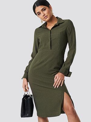 Trendyol Striped Midi Dress grön