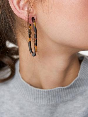 NA-KD Accessories Oval Tortoise Earrings - Smycken