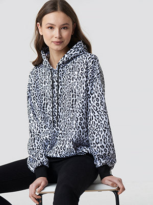 NA-KD Leopard Print Oversized Hoodie multicolor
