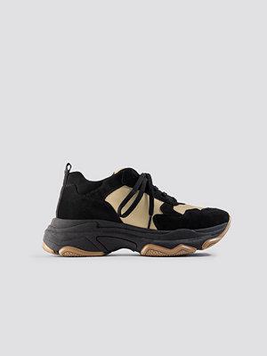 NA-KD Shoes NA-KD Chunky Trainers svart beige