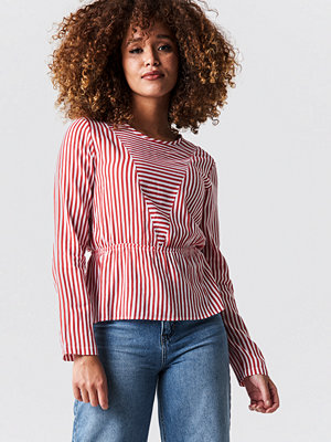 Rut & Circle Layla Stripe Blouse röd