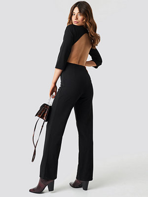 Jumpsuits & playsuits - NA-KD Party Open Back Jumpsuit svart