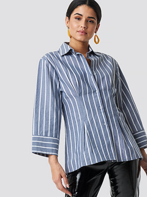Skjortor - NA-KD Classic Pleat Detail Oversized Shirt blå