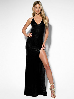 Rebecca Stella Long Sequin Dress svart