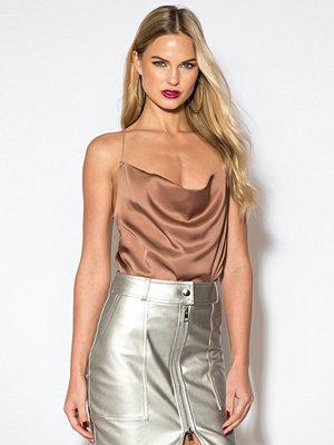 Rebecca Stella Chain Singlet brun rosa