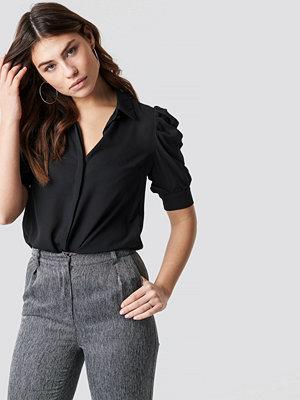 Trendyol Puff Sleeve Blouse svart