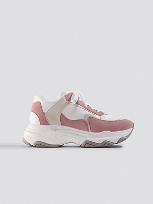 Emilie Briting x NA-KD Pink Chunky Sneaker rosa vit multicolor