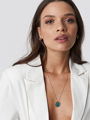 Emilie Briting x NA-KD Moon Pendant Necklace - Smycken