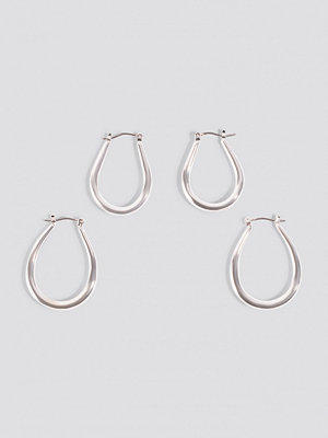NA-KD Accessories 2-pack Oval Hoops - Smycken