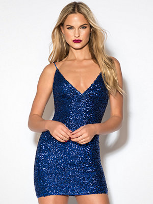 Rebecca Stella Sequin Short Dress blå