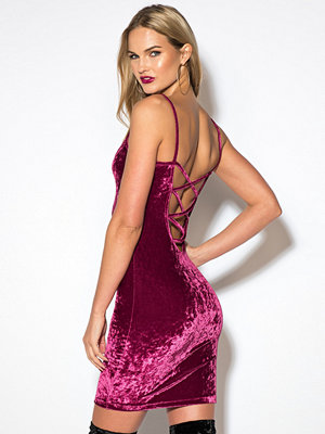 Rebecca Stella Crushed Velvet Dress - Festklänningar