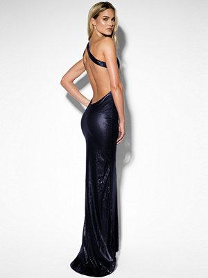 Rebecca Stella One Shoulder Sequin Dress blå