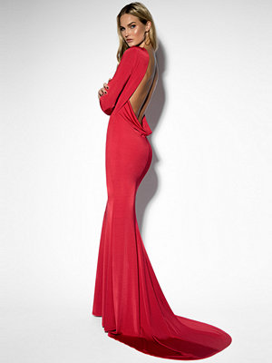 Rebecca Stella Open Back Mermaid Dress röd