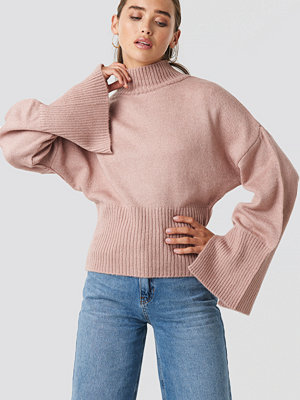 NA-KD Trend Open Sleeve Knitted Sweater rosa